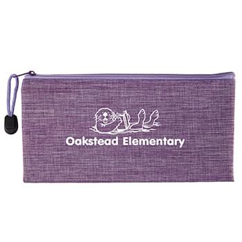 Heathered School Pouch