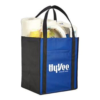 HOT DEAL - Large Non-Woven Grocery Tote w/ Pocket