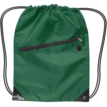 Drawstring Backpack w/Zipper