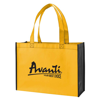 Two-Tone Non-Woven Shopping Tote